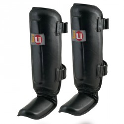 ju- Sports Schienbeinspannschutz Leder