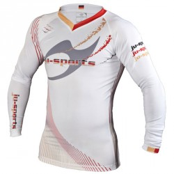 Ju- Sports Germany Rashguard Weiss LS