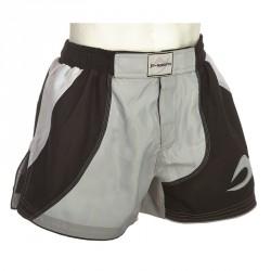 Ju- Sports MMA Grappling Short Motion Pro White Black Grey