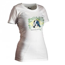 Ju- Sports BJJ Shirt Ground Warrior Weiss Lady