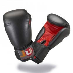 Ju- Sports Boxhandschuhe Schwarz Rot