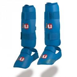 Ju- Sports Schienbein Spannschutz Karate Blau