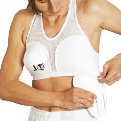 Ju- Sports Brustschutz für Damen Cool Guard Super Komplett Weiss