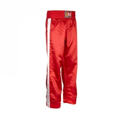 Ju- Sports Kickboxhose Stripe Rot