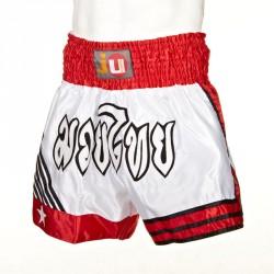 Ju- Sports Thaiboxhose Thai Weiss