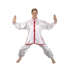 Ju- Sports Tai Chi Anzug Weiss Rot