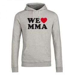 We Love MMA Hoodie Big Logo Grau