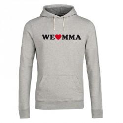ABVERKAUF We Love MMA Hoodie Logo Grau
