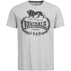 Lonsdale Men Regular Fit T-Shirt Bracknell Grey