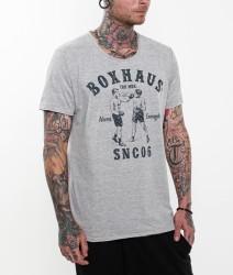 BOXHAUS Brand Aron T-Shirt grey htr
