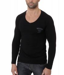 BOXHAUS Brand Vicon langarm V-Neck black