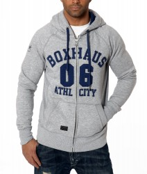 Abverkauf BOXHAUS Brand Zip Hoodie Shane