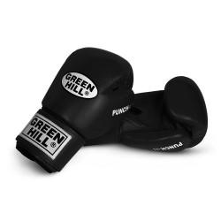 Green Hill Punch II Boxhandschuhe schwarz Leder