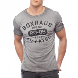 Summersale BOXHAUS Brand Stone T-Shirt raven