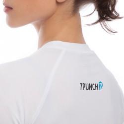 Abverkauf 7PUNCH Compression Rashguard LS M-Mission Women white