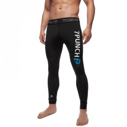 Abverkauf 7PUNCH Compression Longpant M-Mission Men black XXL