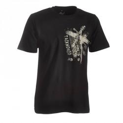 Ju- Sports Taekwondo Shirt Trace Schwarz Kids