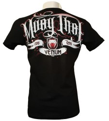 Abverkauf Venum Muay Thai FIGHTERS T-shirt black - Creative Line