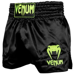 Venum Muay Thai Short Classic Black Neo Yellow