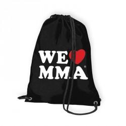 ABVERKAUF We Love MMA Gym Bag Big Logo Schwarz